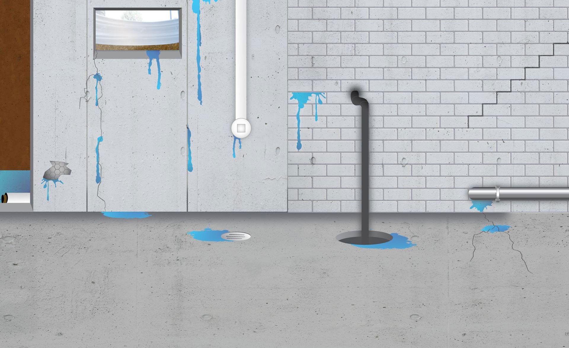 Infiltration eau sous sol maison ventana blog for Infiltration eau garage sous sol